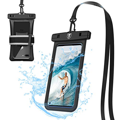Tiflook Floating Waterproof Phone Pouch,2019 Waterproof Cell Phone Case Underwater Dry Bag Pouch Fit for Moto Z4 Z3 Play/G7 G6 G5 E5 Play/G6 G5S Plus/G6 Forge/E5Plus/X4/One Vision,up to 6.5