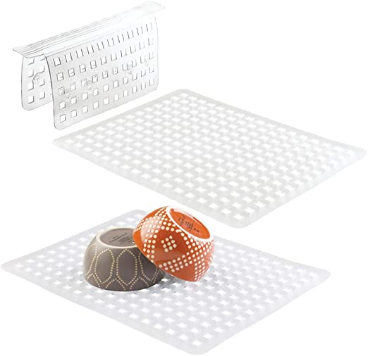 Amazon Com Mdesign Kitchen In Sink Protector Mats Pads Sets