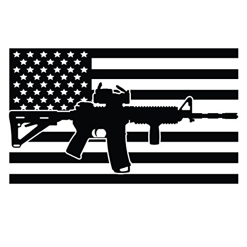 Die United Decal Cut (BAMFdecals United States Subdued Flag AR-15 Center Stripe Die-Cut Vinyl Decal - Small - Black)