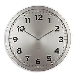 Umbra Anytime Wall Clock, Nickel
