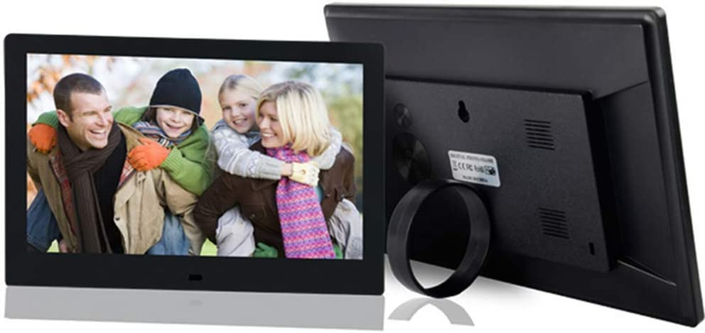 Support SD Card//USB //MP3//Calendar//Clock//Time,Black MUYEY Digital Picture Frame,10.1 Inch Digital Photo Frame 1280/×800 IPS Screen with Wireless Remote Control