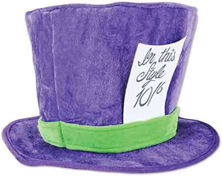 3a575b38ae2 Beistle Club Pack Alice in Wonderland Costume Accessory Plush Mad Hatter Hat