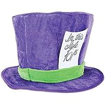 Beistle 60059 Plush Mad Hatter Hat, , Purple/Green
