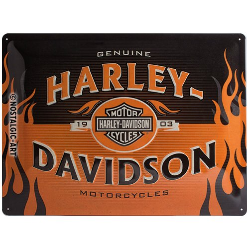 Nost A Harley-Davidson 1903 LOGO ORANGE, Metal Sign 16