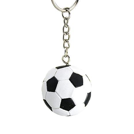 Underleaf Creativo llavero con forma de balón de fútbol para ...