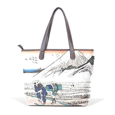 b67f1b976a Ukiyoe Ukiyo-E Print Japanese Art Women s Fashion Large Shoulder Bag Handbag  Tote Purse for