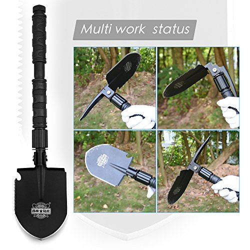 Outdoor portable shovels Mini military shovels Traveling multifunctional folding shovels can be used for camping, hunting, fishing, etc.…