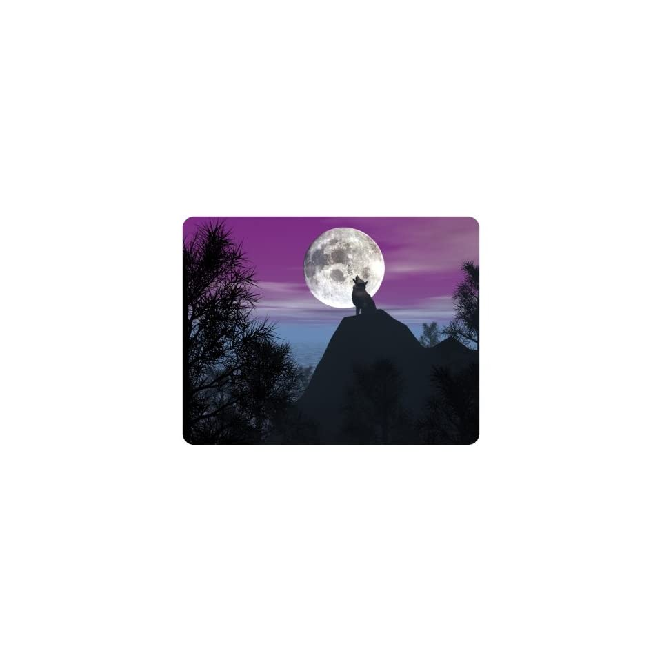 Brand New Wolf Mouse Pad Full Moon