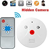 MaQue Hidden Spy Camera Smoke Detector Nanny Cam Motion Detection Camera Perfect for Hotel Office Nursing Home