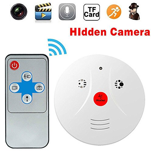 MaQue Hidden Spy Camera Smoke Detector Nanny Cam Motion Detection Camera Perfect for Hotel Office Nursing (Cam Detector)