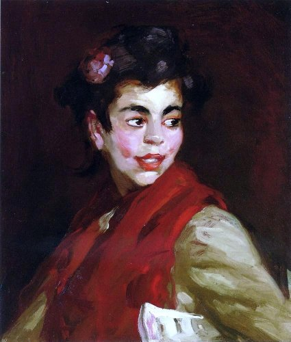 Robert Henri Newsgirl Madrid Spain - 20'' x 25'' 100% Hand Painted Oil Painting Reproduction by Art Oyster