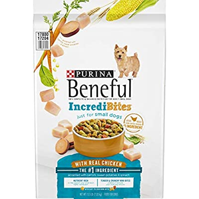 Purina Beneful Small Breed Dry Dog Food, IncrediBites With Real Chicken - 15.5 lb. Bag