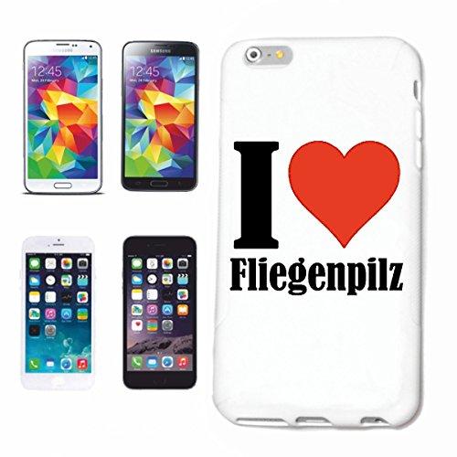 """Handyhülle iPhone 4 / 4S """"I Love Fliegenpilz"""" Hardcase Schutzhülle Handycover Smart Cover für Apple iPhone … in Weiß … Schlank und schön, das ist unser HardCase. Das Case wird mit einem Klick auf dein"""