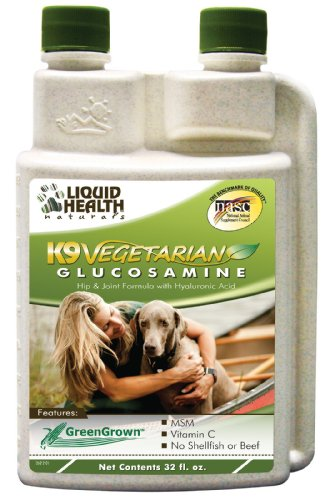 Liquid Health K9 Vegetarian Glucosamine MSM Vitamin C Grape Seed 8 or 32 oz (32 OUNCES) Glucosamine Shellfish Allergy