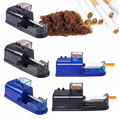 Electric Automatic Cigarette Rolling Machine ,Vanvler Tobacco Maker Cigarette Roller with Tool Newest (Blue) (Best Electronic Cigarette Roller)