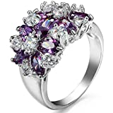Sumanee Women Engagement Noble Size6-10 Wedding Ring Fashion Amethyst (8)