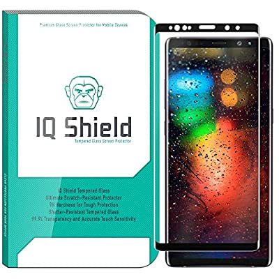 Galaxy Note 9 Screen Protector (1-Pack)[3D Glass in Black], IQ Shield Tempered Ballistic Glass Screen Protector for Samsung Galaxy Note 9 99.9% Transparent HD [Full Coverage] Shield