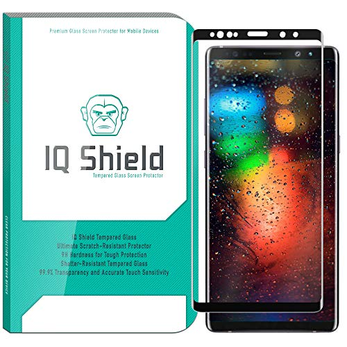 Galaxy Note 9 Screen Protector (1-Pack)[3D Glass in Black], IQ Shield Tempered Ballistic Glass Screen Protector Samsung Galaxy Note 9 99.9% Transparent HD [Full Coverage] Shield