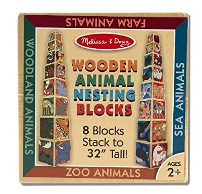 Melissa & Doug Children's Wooden Animal Nesting Blocks