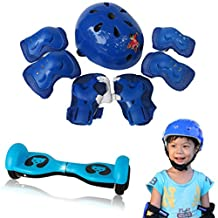Changeshopping 7pcs Kid Child Self Balancing Bike Roller Knee Elbow Wrist Helmet Pad