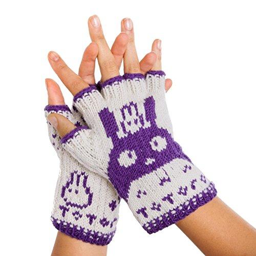 相談慣れている群がるトトロ指なし手袋 – hand-knitからPureメリノウール。トトロ手袋腕ウォーマー指なし手袋メリノウールTexting手袋