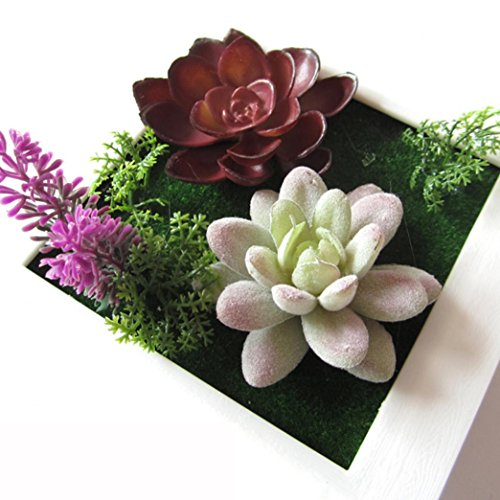 Iuhan® Fashion 3D Beauty Creative Plant Frame Wall Sticker Artificial Flower Home Decoration B