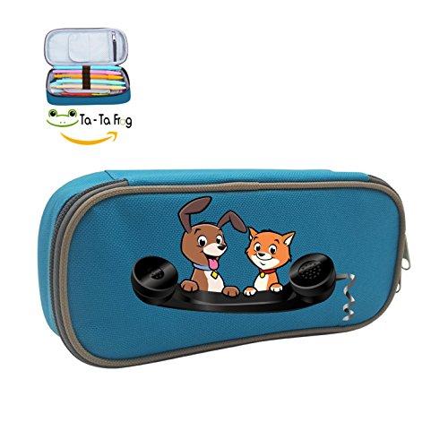 Top Dog Cat Phone Makeup Bags Big Capacity Pencil Case Pen Bag Box