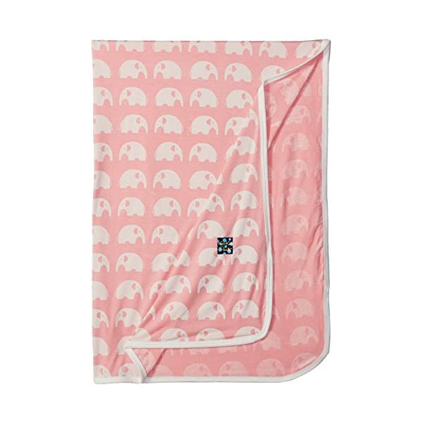KicKee Pants Print Swaddling Blanket (One Size, Lotus Elephant)
