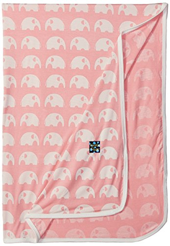 KicKee Pants Baby Essentials Swaddling Blanket Girls, Lotus Elephant, One Size
