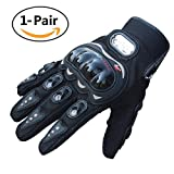 Advanced Fabric Hard Knuckle Gloves Indoor Cycling Gloves Full Fingers Motorcycle Gloves Combat Gloves Paintball Gloves Shooting Gloves Tactical Gloves for Men Women Kids Youth,1 Pair(Black)