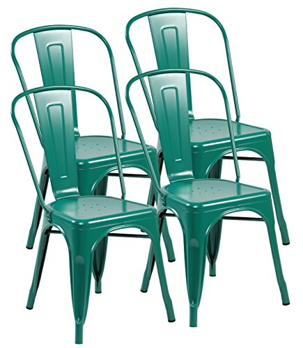 United Chair Tolix Style Metal Kitchen Dining Chairs with Ba