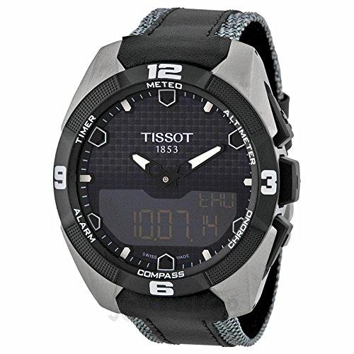 Tissot Tissot T-Touch II Experto solar Negro analógico digital Dial Negro Cuero Mens Reloj T0914204605101: goldia: Amazon.es: Relojes
