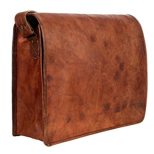 Paper High - Bolso al hombro de Piel para hombre Marrón marrón Talla L