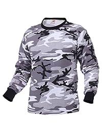 Rothco Mens Camouflage T-Shirt - Long Sleeve, City Camo, Large