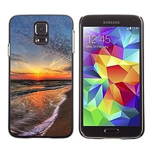 Be Good Phone Accessory // Dura Cáscara cubierta Protectora Caso Carcasa Funda de Protección para Samsung Galaxy S5 SM-G900 // Sunset Sea Beautiful Nature 15