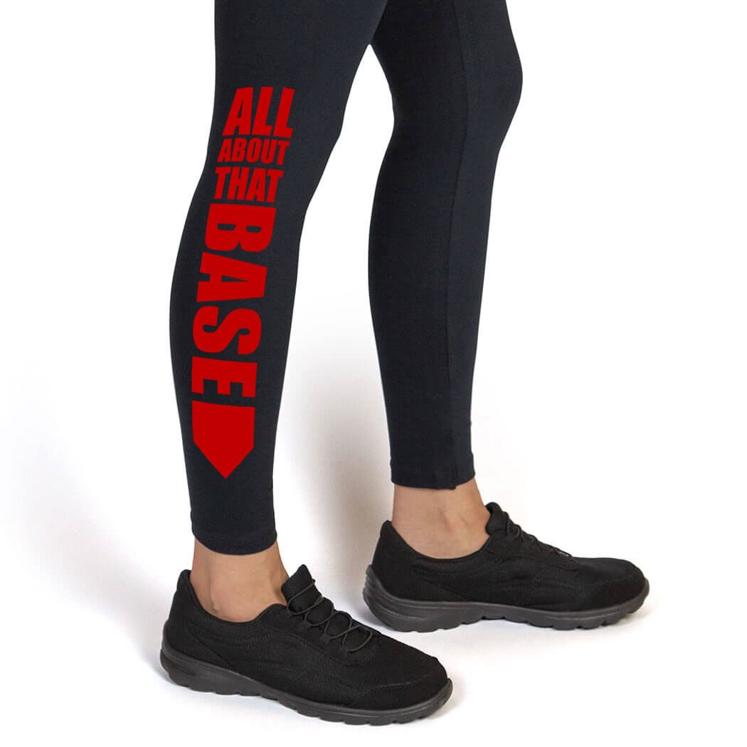 All About That Base Leggings | Softball Leggings by ChalkTalk SPORTS | Multiple Colors | Youth To Adult Sizes sb-02480