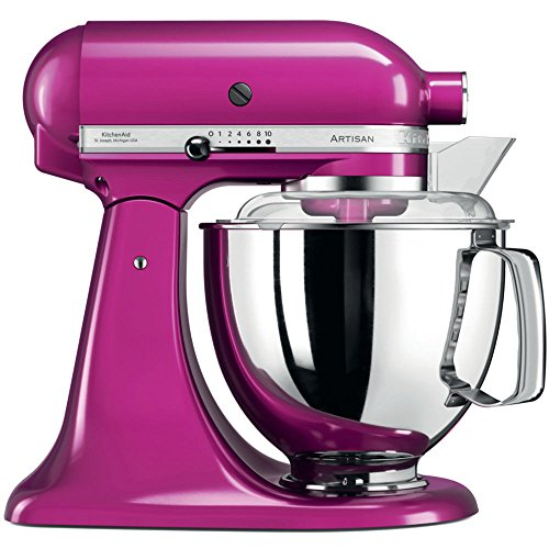 KitchenAid Artisan 5KSM175PSERI 5 Qt.Stand Mixer Raspberry Ice with TWO Bowls & Flex Edge Beater 220 VOLTS NOT FOR USA