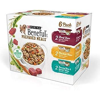 Purina Beneful Gravy Wet Dog Food Variety Pack; Prepared Meals Stew - (6) 10 oz. Tubs
