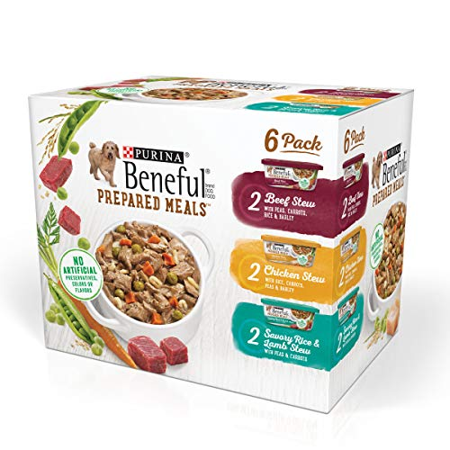 - Purina Beneful Prepared Meals Beef Stew, Chicken Stew, And Savory Rice & Lamb Stew Adult Wet Dog Food Variety Pack - (6) 10 Oz. Tubs