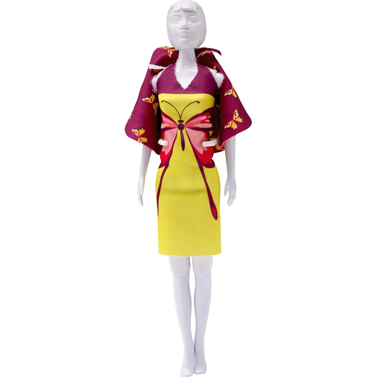 Vervaco Dolly Butterfly Dress Your Doll outfit making set