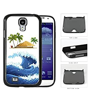 Ocean Wave Tiki Hut Watercolor Hard Plastic Snap On Cell Phone Case Samsung Galaxy S4 SIV I9500