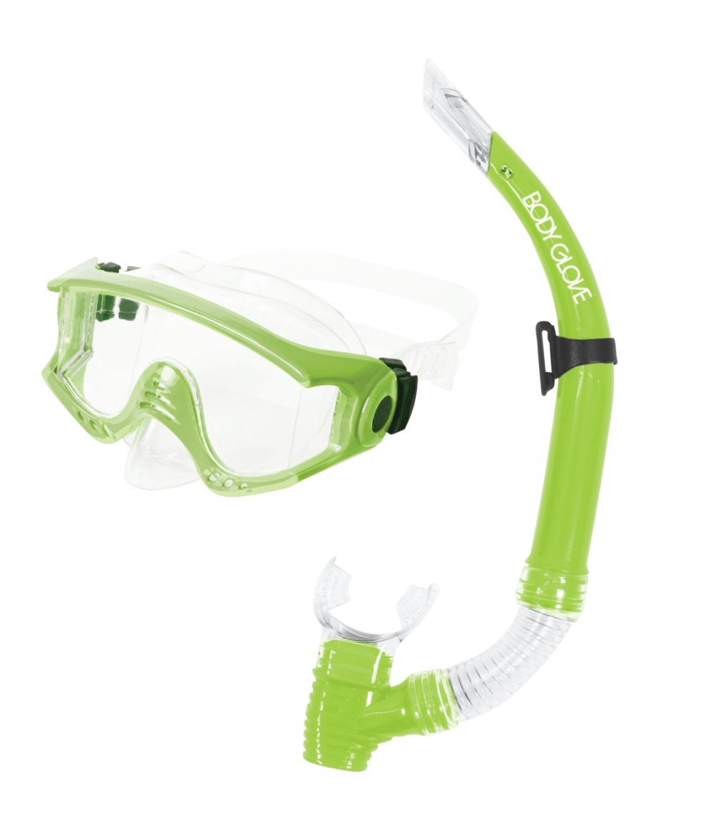 15034CMB-M-TLIM Body Glove Halo Mask /& Snorkel Combo-Medium-T//Lime Body Glove Wetsuit Co
