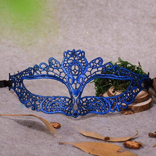 Cywulin Unisex Masquerade Lace Mask, Catwoman Halloween Cutout