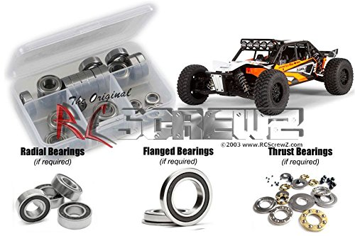 RC Screwz Rubber Shielded Bearing Kit for Axial Racing EXO Terra Buggy #axi005r (Exo Kit Buggy Terra Axial)