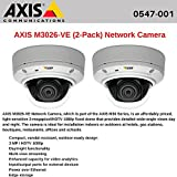 AXIS M3026-VE (2-Pack) Network Camera, day/night fixed dome with HDTV 1080p