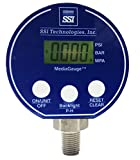 SSI Technologies MG-30-A-9V-R Digital Pressure Gauge, 0-30 PSI, 0.25% Accuracy, 1/4'' NPT Male, Black/Blue