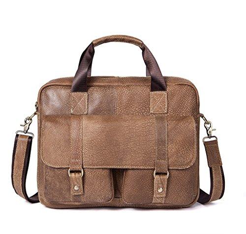 In viaggio università A Spalla Sucastle Uomo Bag Tipo Tracolla 3 Borsa 38x8x28cm Messenger 1 Pelle Vintage D'affari qnnYRF