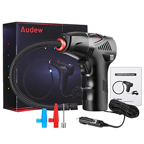 Audew Portable Air Compressor Pump, 12V Hand Held Tire Inflator, Digital Tire Pump for Car, Motorcycle, Bike and Other Inflatables by Audew (Image #7)