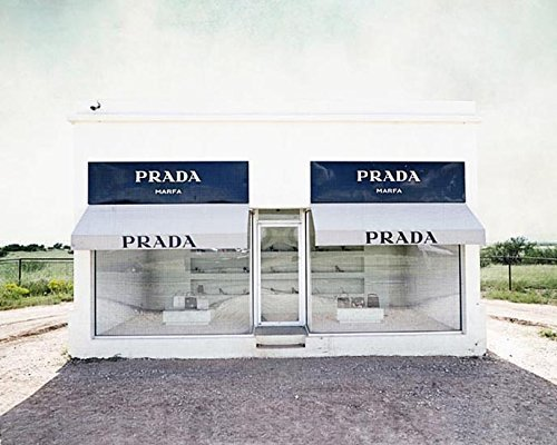 Prada Marfa Photograph minimalist home decor West Texas photography 8x10 inch - Americas Prada