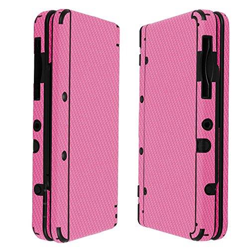 Skinomi® TechSkin - New Nintendo 3DS Screen Protector (2015 Standard Version) + Pink Carbon Fiber Full Body Skin/ Front & Back Clear Film / Ultra HD & Anti-Bubble Shield